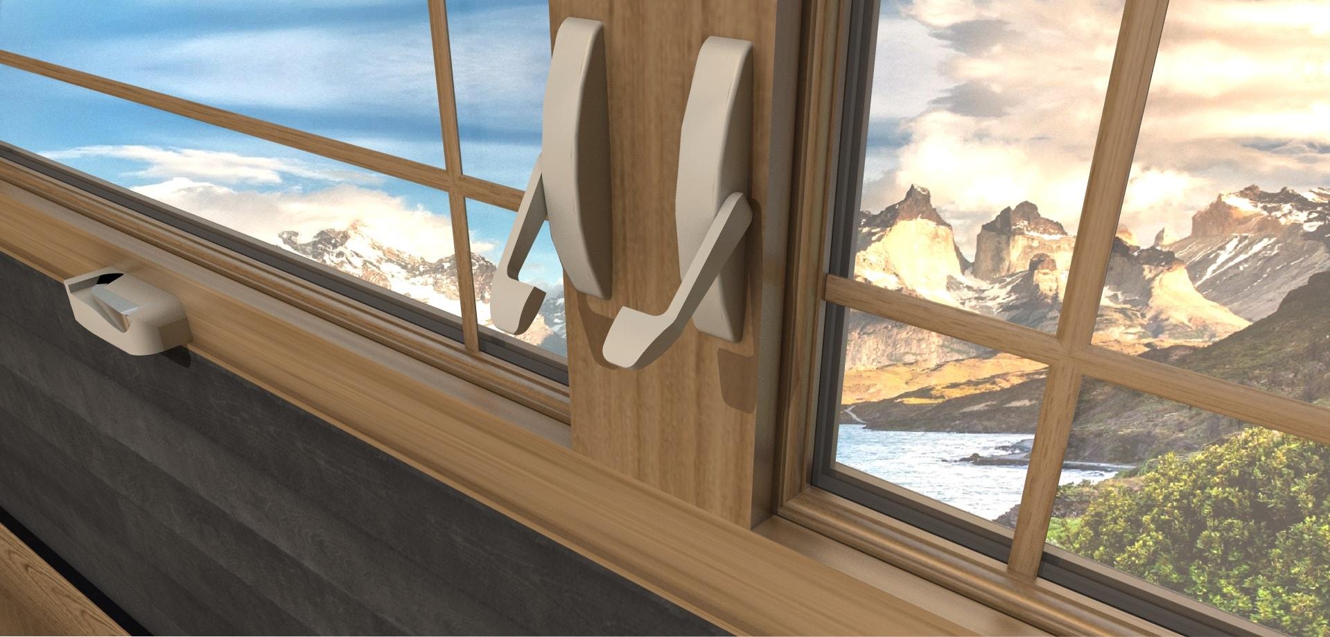 Détail Fenêtre à Manivelle