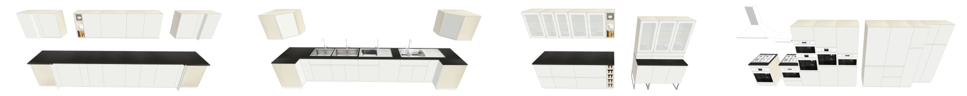COLLECTION 3D IKEA VOXTORP BLANC BR