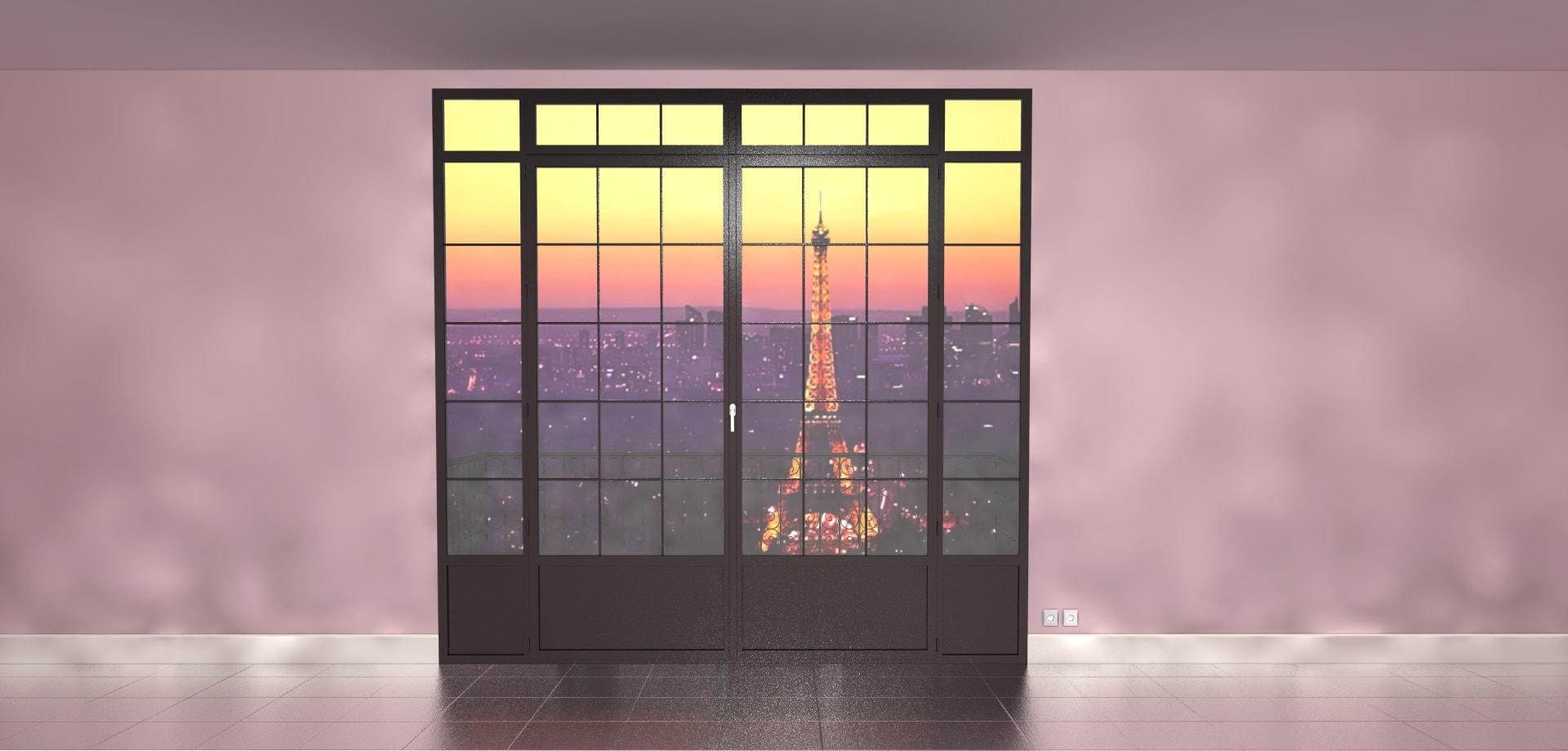 Porte-Fenêtre 3D à la Française