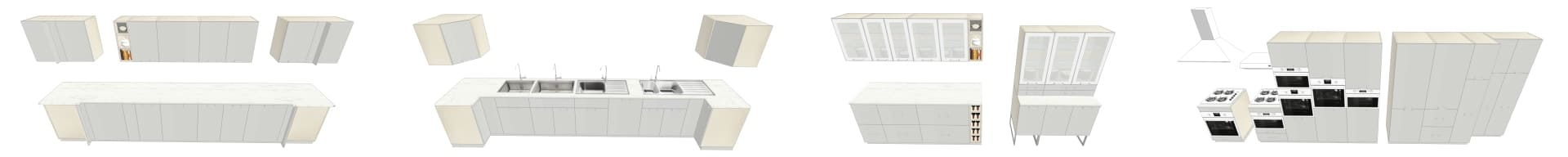 COLLECTION 3D IKEA RINGHULT GRIS