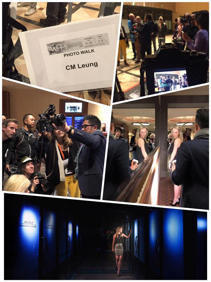 Madeline modeling for CM Leung in Vegas.