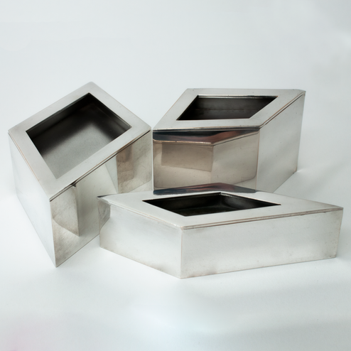 Silver Boxes with lids