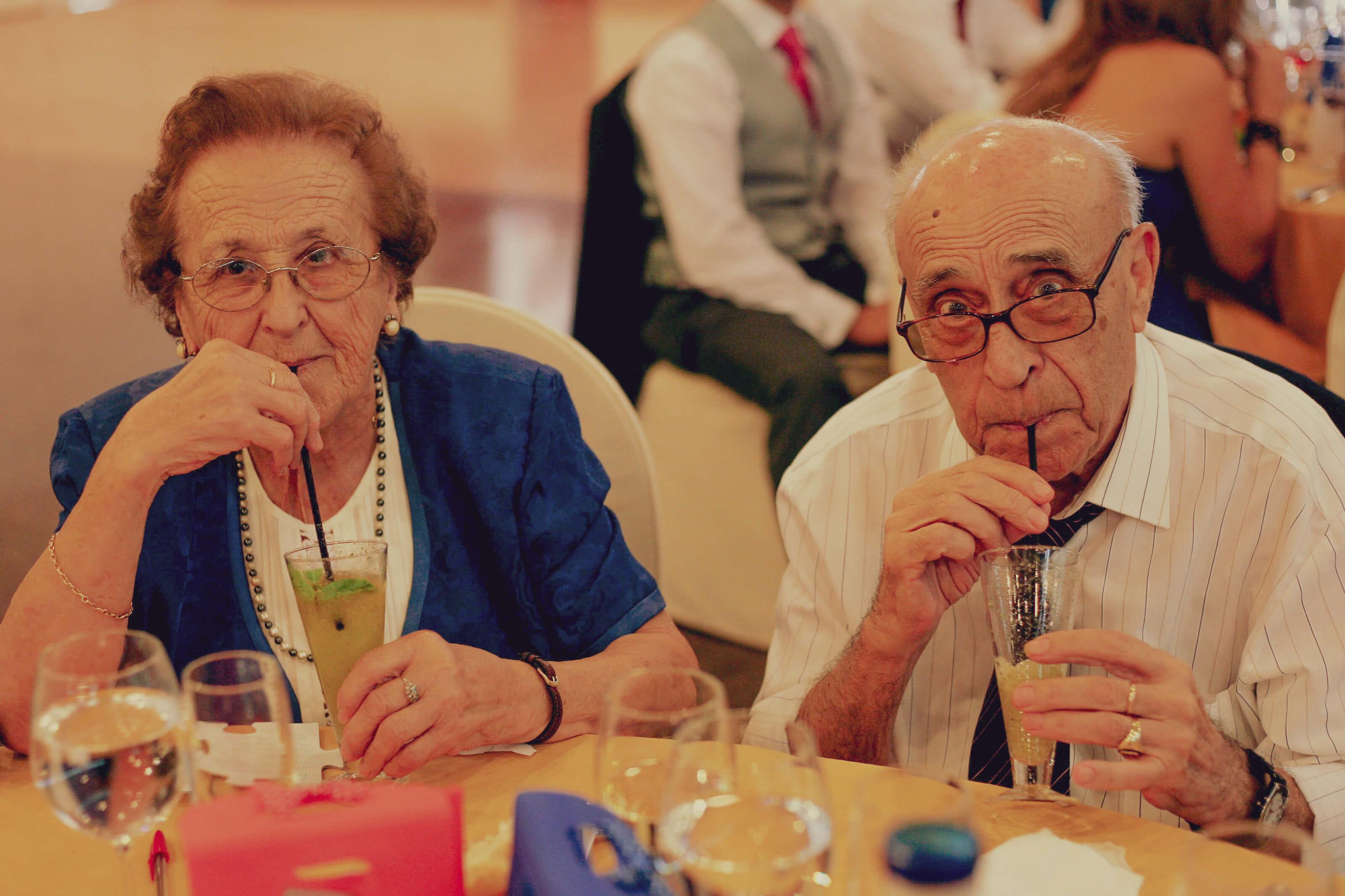 Los abuelos en la boda