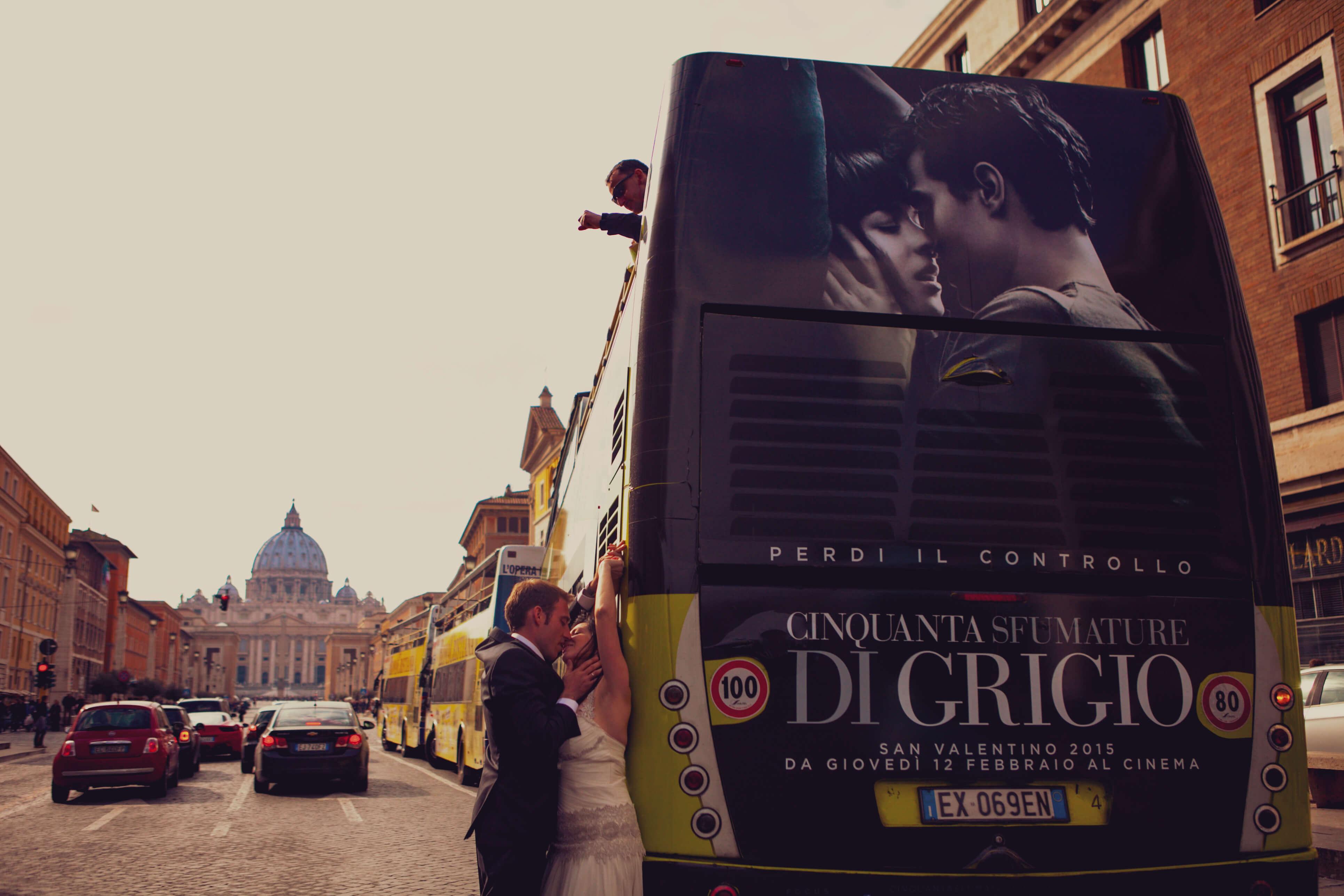 Novios en Roma