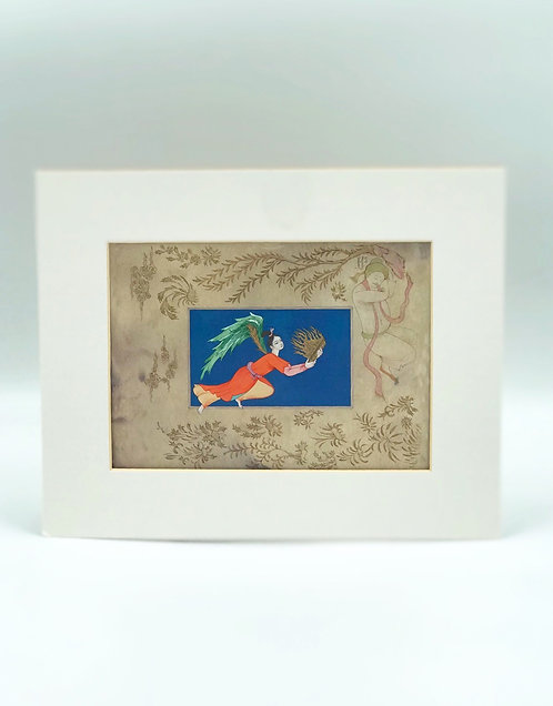 Cart postal encadré