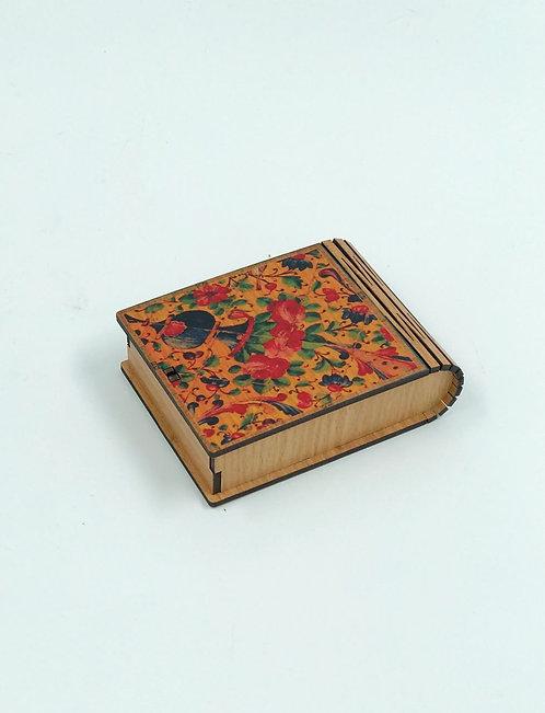 Boîte en bois motif persan