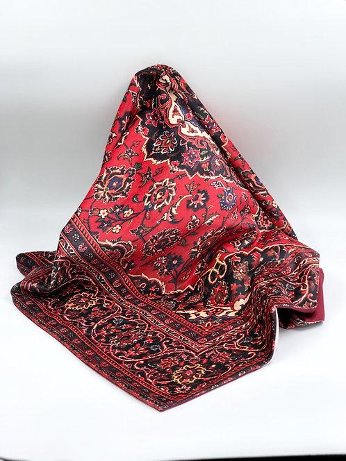 Nappe en velours motif de tapis persan
