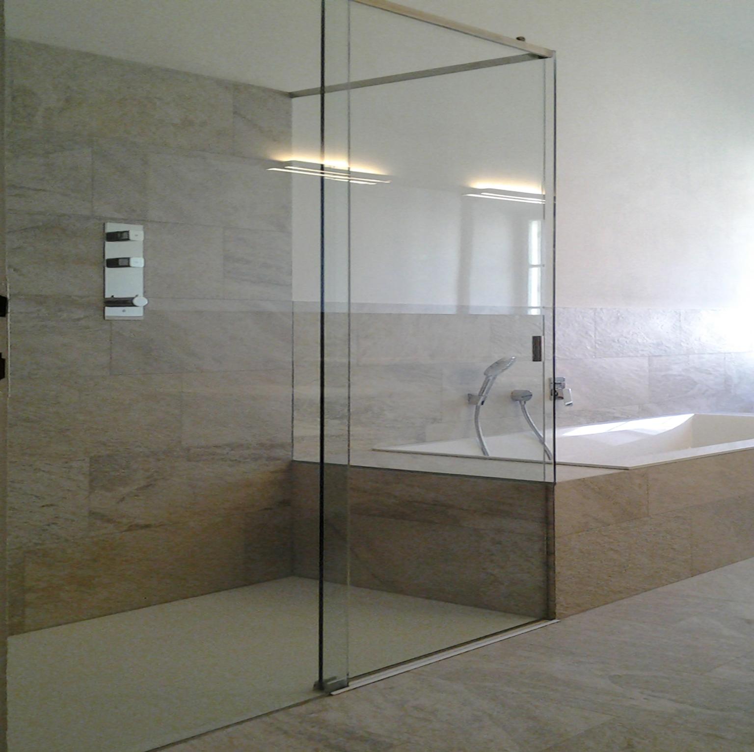 Duschkabine - Glasschiebetür