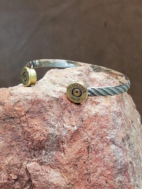 Open Range Flat Braid Pattern Cuff Bracelet