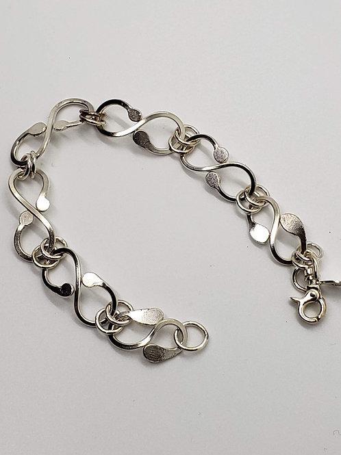 """Sterling Silver """"S"""" Link Bracelet"""