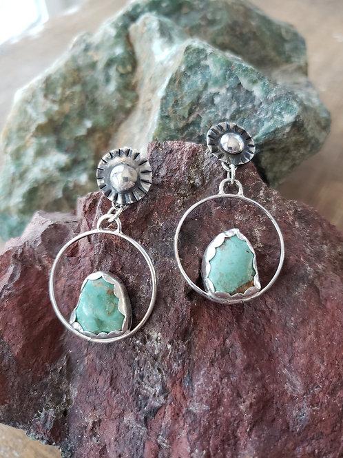 Sunburst Turquoise Earrings