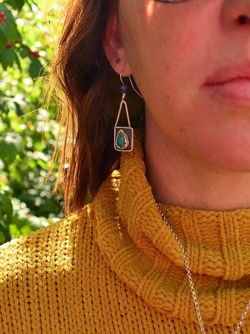 Shattuckite Earrings
