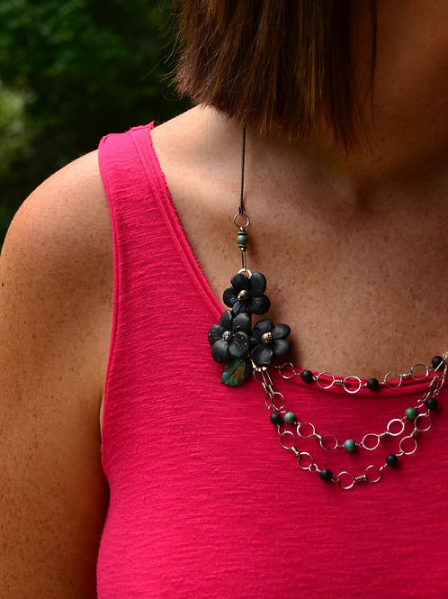 Obsidian & Turquoise Necklace