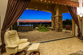 Twilight Real Estate Photo Backyard Pool Patio Scottsdale Phoenix Payson AZ