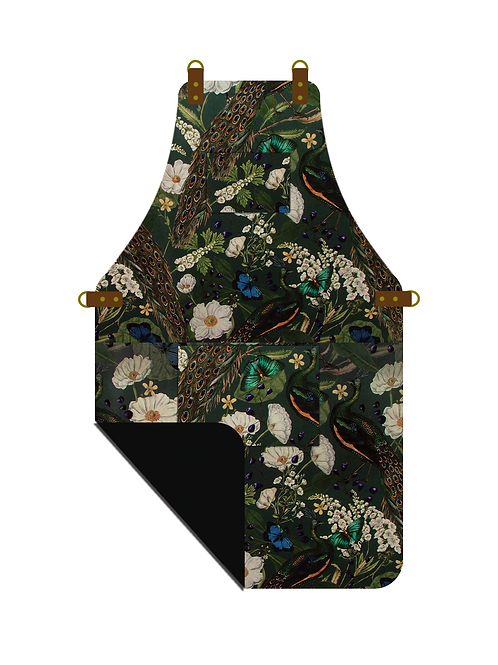 Botanical Peacock Apron