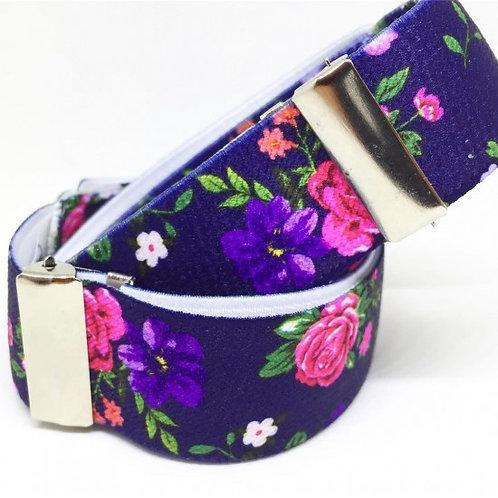 Floral Blue Sleeve Garters