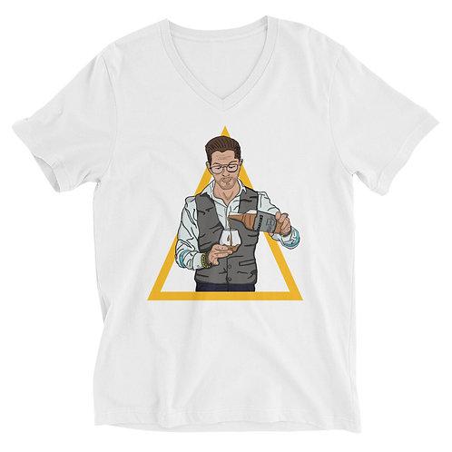 Francesco Unisex Short Sleeve V-Neck T-Shirt