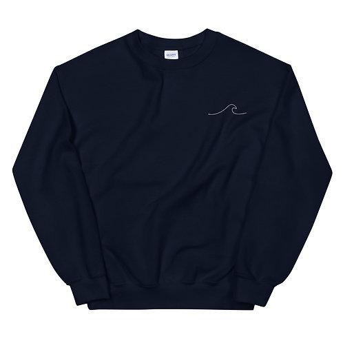 Wave Embroidered Unisex Sweatshirt