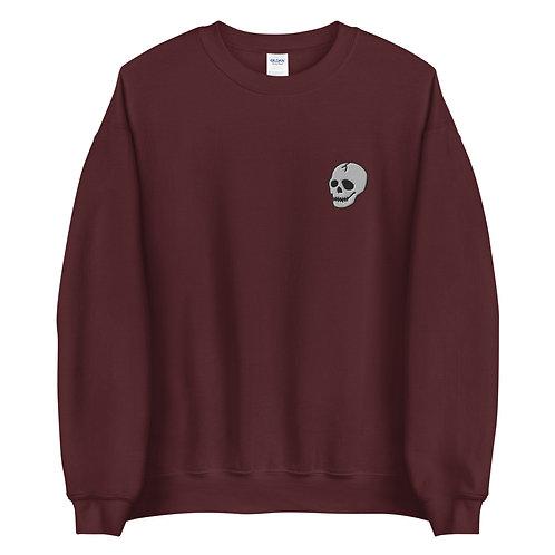 Skull Embroidered Unisex Sweatshirt