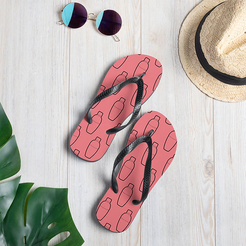 Shaker Pink Flip-Flops