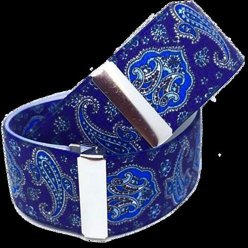 Blue Paisley Sleeve Garters