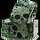 Thumbnail: Green Skull Paisley Sleeve Garters