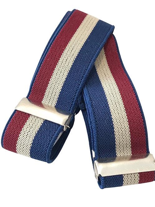 Blue Red & White Sleeve Garters