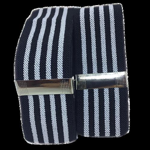Black & White Lines Sleeve Garters