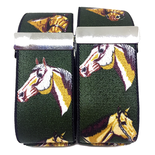 Green Horses Sleeve Garters