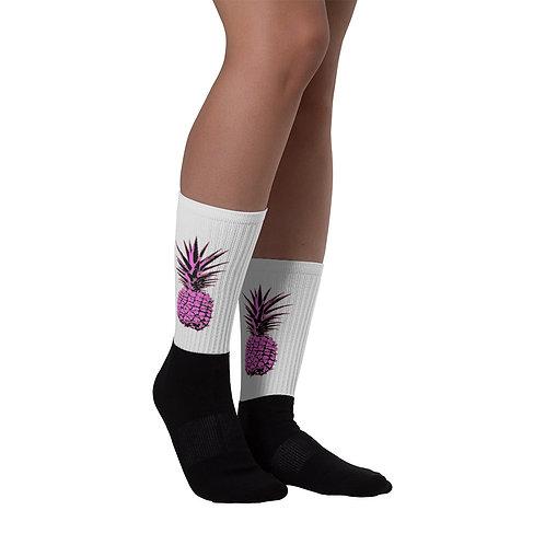 Pink Pineapple Socks