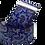 Thumbnail: Blue Navy Paisley Sleeve Garters