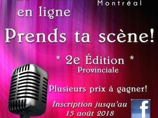 Concours de chant Prends ta scène! En ligne! 2e édition
