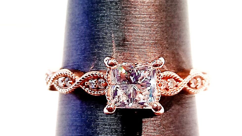 Ladies 14kt Rose Gold Engagement Ring