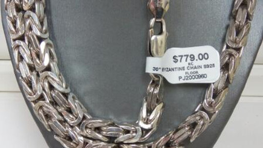 "30"" Sterling Silver Byzantine Chain"