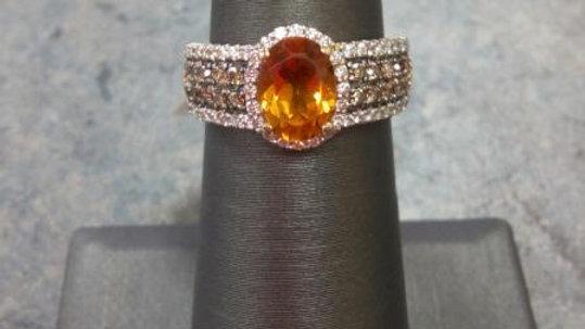 Ladies LeVian  Citrine Fashion Ring