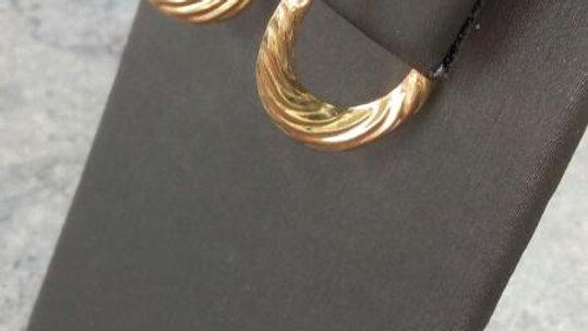 Ladies 14kt Hoop Earrings