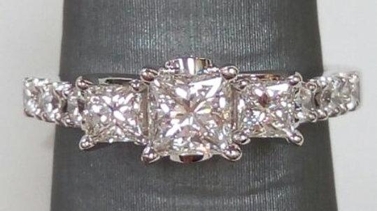 Ladies LEO Diamond Engagement Ring