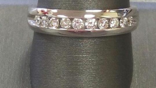 Men's Gold-Diamond Wedding Band