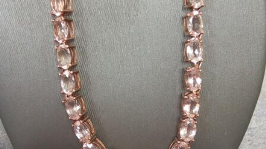 Ladies Pink Stone Necklace