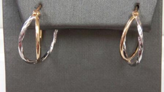 Ladies Gold Fashion Hoop Earrings
