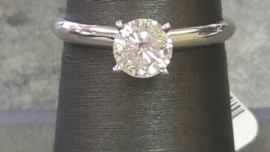 Ladies Diamond Solitaire Engagement Ring