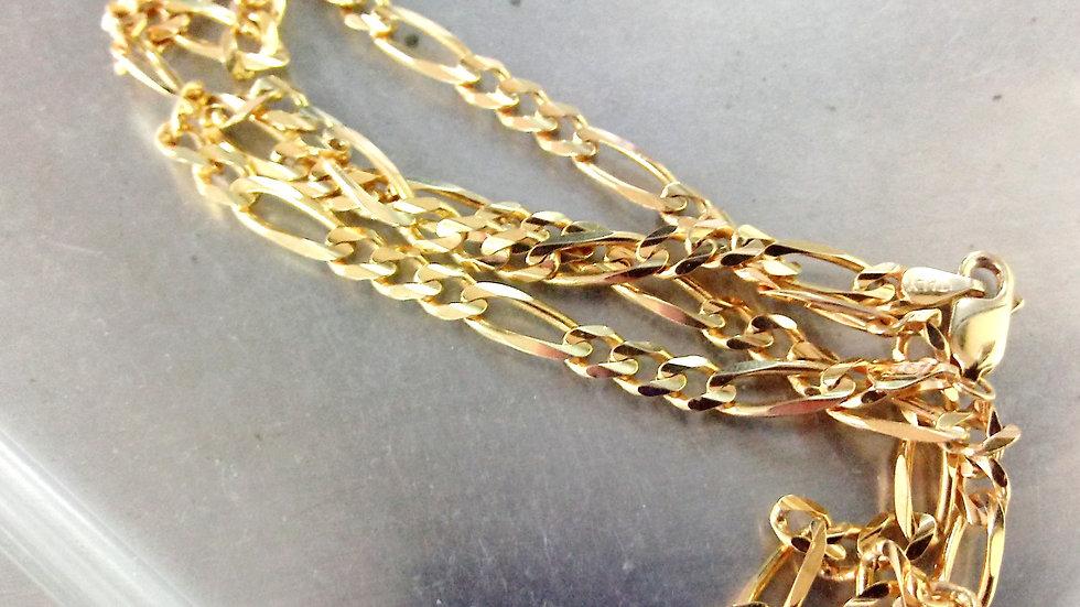 14kt 16in Figgaro Chain