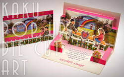 KIDS ON THE SEESAW | POP UP CARD