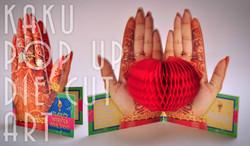 MEHANDI | HEENA  ON HANDS | POP UP DIE CUT CARD