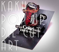 COCA COLA | POP UP DIE CUT ADVERTISING DISPLAY