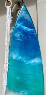 Oak 1.8m  Resin Surfboard Art