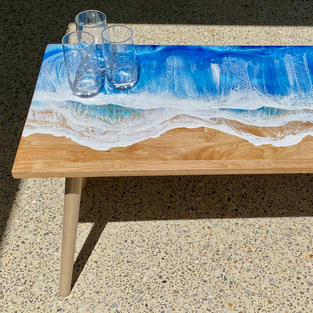 Waves Rolling In- Coffee Table