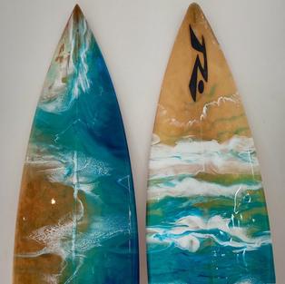 Real Surfboard Resin Art