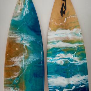 Real surfboards resin art