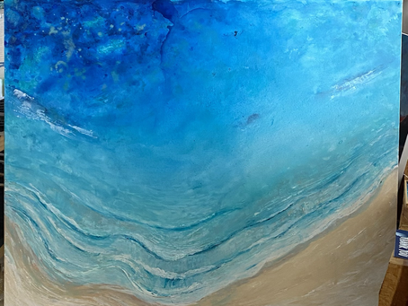 Busy week in the studio finishing off this beach beauty